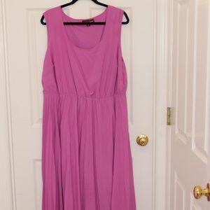 Jessica London Gorgeous Berry Pleated Maxi Dress